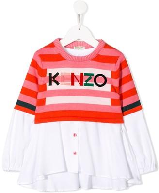 Kenzo button up logo top