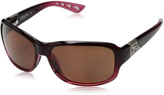 Costa del Mar Women's Inlet Polarized Rectangular Sunglasses