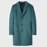 Paul Smith Men's Teal Wool And Cashmere-Blend Peak-Lapel Epsom Coat