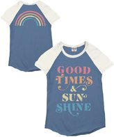 Junk Food Clothing Girl's Good Time and Sun Shine Short Sleeve Raglan