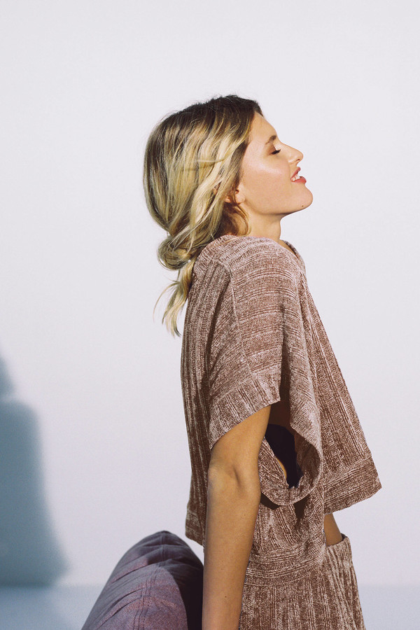 Out From Under Charlie Chenille V-Neck Sweater