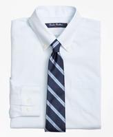 Brooks Brothers Non-Iron Supima Cotton Broadcloth Mini Stripe Dress Shirt