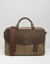 Barbour Wax Briefcase In Stone