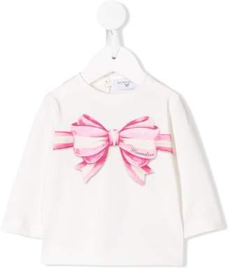 MonnaLisa bow-print top