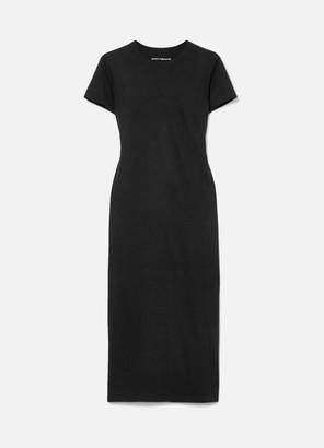 Paco Rabanne Printed Cotton-jersey Midi Dress - Black