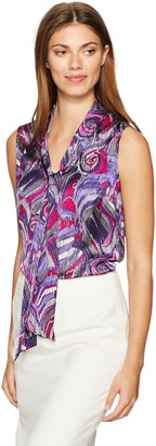 Nine West Women's Pattern Tie Neck Cami