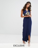 TFNC Wedding Wrap Maxi Dress