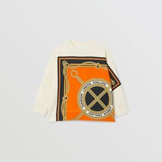 Burberry Scarf Print Cotton Sweatshirt
