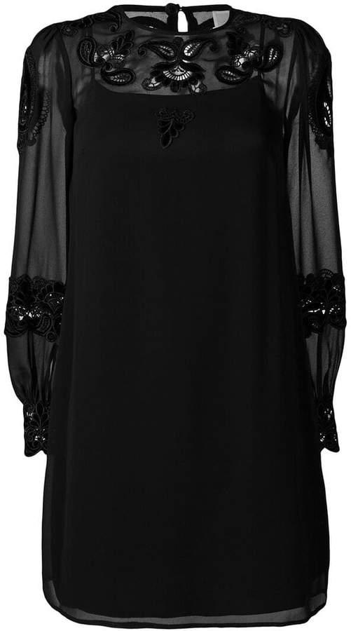 MICHAEL Michael Kors lace appliqué short dress