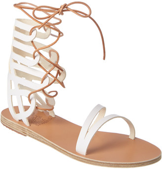 Ancient Greek Sandals Dione Ankle Wrap Leather Sandal