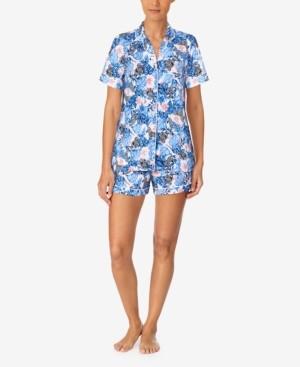 Cuddl Duds Short Sleeve Shirt & Boxer Shorts Pajama Set