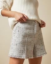Ted Baker Fringe Hem Tailored Shorts