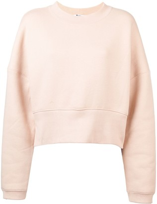 T By Alexander Wang Cropped Casual Sweatshirt