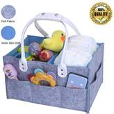 Flyboss Baby Diaper Caddy Organizer - Baby Nursery Diaper Tot,Portable Car Organizer Bag - Felt storage bins for Diapers Wipes & Toys,Baby Shower Basket nappy gift for Mom,Newborn Registry Must Haves
