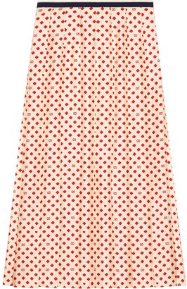 Gucci Skirt with four-leaf clovers, GG and hearts