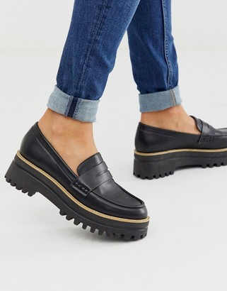 Park Lane chunky loafers in black