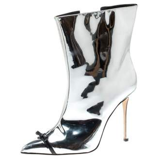 Marco De Vincenzo Silver Patent leather Ankle boots