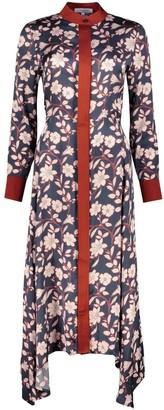 Anna Etter Navy Midi Dress Ettie With Floral Print