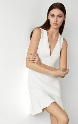 BCBGMAXAZRIA Flounced Hem Mini Dress