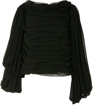 Comme des Garcons Gathered Ruched Blouse