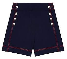 Maje Women's Isla High-Waist Knit Cotton Shorts