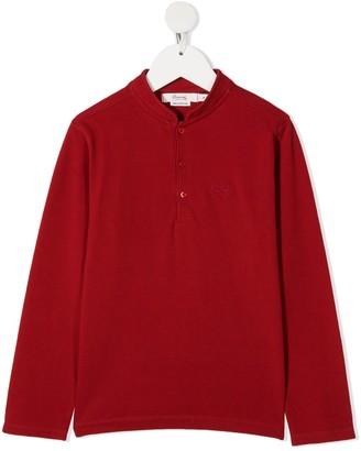Bonpoint Cotton Henley Shirt