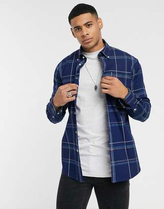 Barbour Highland slim fit check shirt in blue