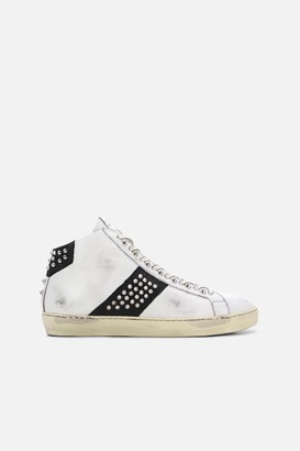 Leather Crown Iconic Stud High Top Sneakers