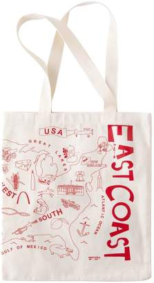 Lucky Brand Maptote East Coast West Coast Tote