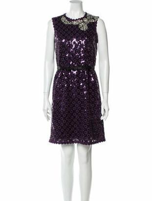 Marc Jacobs 2015 Mini Dress Purple