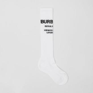 Burberry Horseferry Intarsia Cotton Blend Knee-length Socks