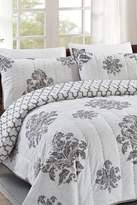 California Design Den by NMK Distress Brocade Full/Queen Sized 3-Piece Quilt Set - Grey