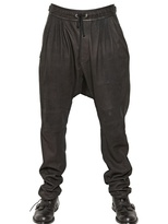 Balmain Sarouel Nappa Leather Trousers