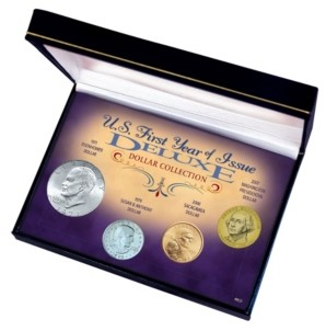 American Coin Treasures U.s. First Year of Issue Deluxe Dollar Collection