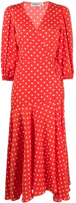 Essentiel Antwerp Polka Dot Flared Dress