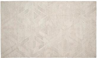 One Kings Lane Cassia Kilim - Light Gray/Ivory - 5'x8'