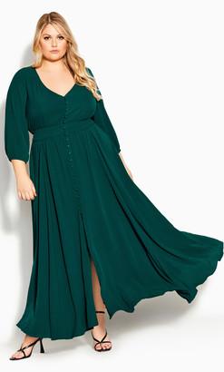 City Chic Desire Maxi Dress - sea green