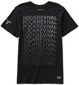 Rock Revival Reflective Repeating-Logo Graphic Tee