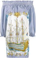 P.A.R.O.S.H. pinstripe pirate ship dress - women - Silk - XS
