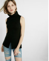 Express split front and back sleeveless turtleneck