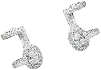 Messika Glam'Azone 18K White Gold & Diamond Pave Clip-On Ear Cuffs
