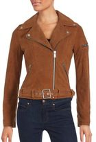 7 For All Mankind Zip-Front Leather Jacket