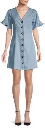 Miss Me V-Neck Button-Down Dress