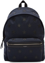 Saint Laurent Navy Stars Backpack