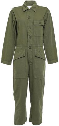 Current/Elliott The Richland Cropped Cotton And Linen-blend Jumpsuit