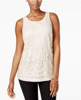 Charter Club Embroidered Lace Top, Only at Macy's
