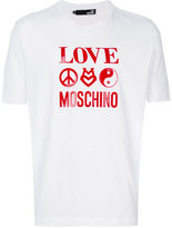 Love Moschino love print T-shirt - men - Cotton - XS