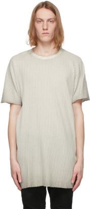 Boris Bidjan Saberi Off-White Rib Knit Resin-Dyed One Piece T-Shirt