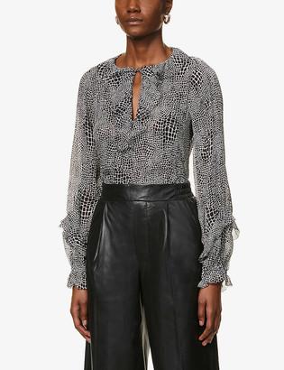 Paige Robin silk-crepe blouse