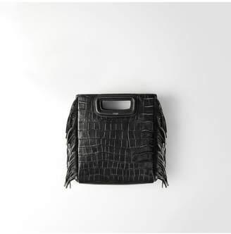 Maje Crocodile Embossed-Leather M Bag